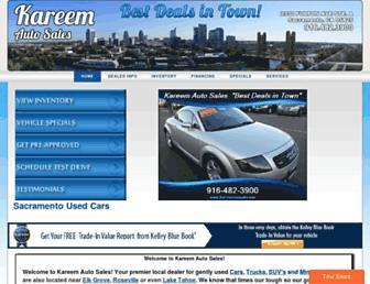 kareemautosales.com screenshot