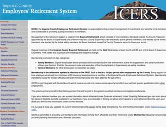Main page screenshot of icers.info
