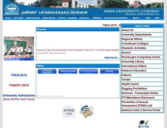 Thumbshot of Annauniv.edu