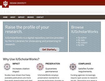 Main page screenshot of scholarworks.iu.edu