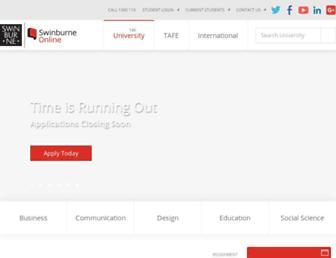 swinburneonline.edu.au screenshot