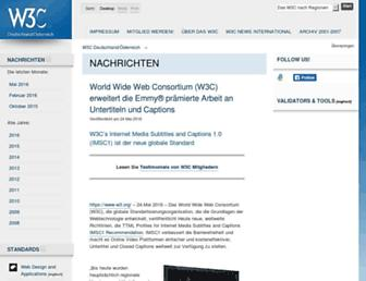 Main page screenshot of w3c.de
