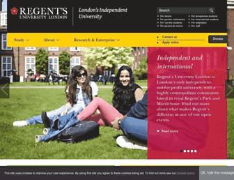 regents.ac.uk screenshot