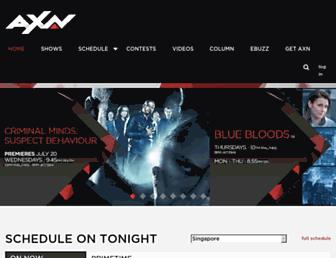 axn-asia.com screenshot