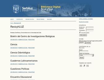 produccioncientificaluz.org screenshot
