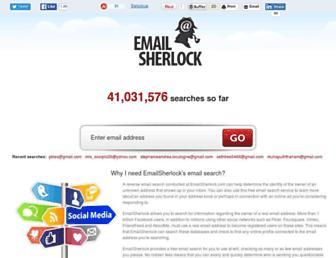 emailsherlock.com screenshot