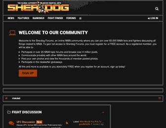 forums.sherdog.com screenshot