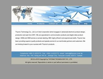 thyonix.com.tw screenshot