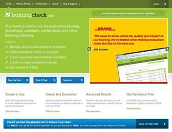 trainingcheck.com screenshot