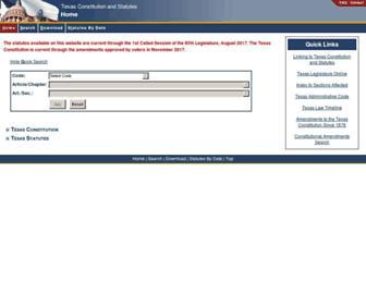 statutes.capitol.texas.gov screenshot
