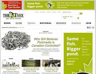 Main page screenshot of thetyee.ca