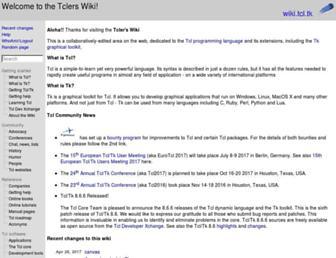 wiki.tcl-lang.org screenshot