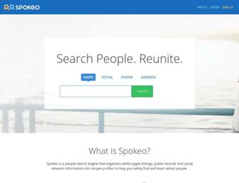 spokeo.com screenshot
