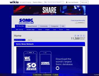 sonic.wikia.com screenshot