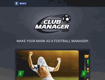 clubmanagergame.com screenshot