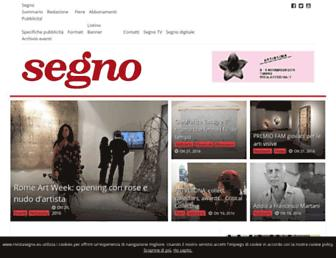 Main page screenshot of rivistasegno.eu