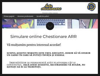 chestionarearr.ro screenshot