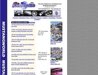 Thumbshot of Mustangworld.com