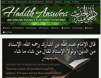 hadithanswers.com screenshot