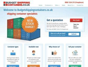 budgetshippingcontainers.co.uk screenshot