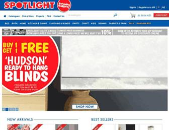 Main page screenshot of spotlight.co.nz