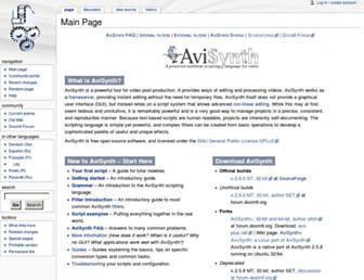 avisynth.nl screenshot