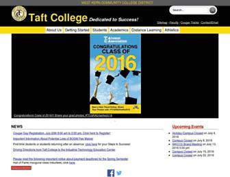 taftcollege.edu screenshot