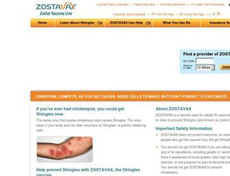 Thumbshot of Zostavax.com