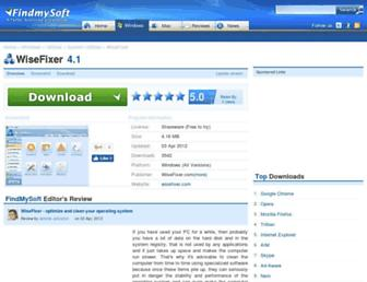 wisefixer.findmysoft.com screenshot