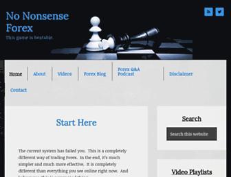 nononsenseforex.com screenshot