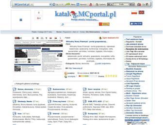 Main page screenshot of mcportal.pl
