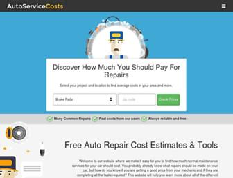 autoservicecosts.com screenshot