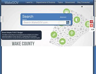 Thumbshot of Wakegov.com