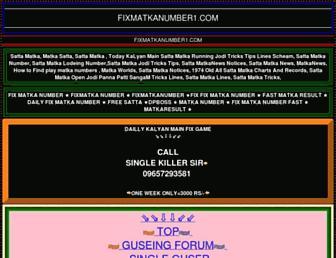 fixmatkanumber1.com screenshot