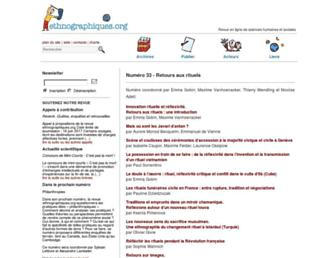 Main page screenshot of ethnographiques.org