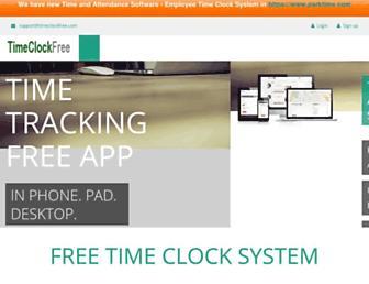 timeclockfree.com screenshot