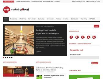 marketing4food.com screenshot