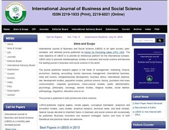 ijbssnet.com screenshot