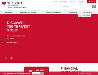 thrivent.com screenshot