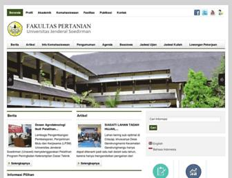 faperta.unsoed.ac.id screenshot