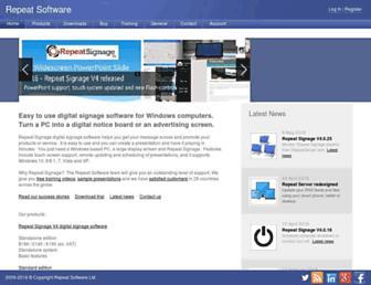 repeatsoftware.com screenshot