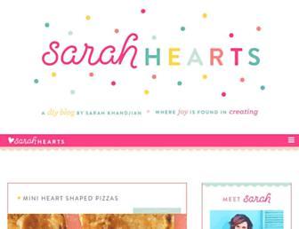 sarahhearts.com screenshot