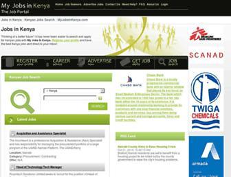 myjobsinkenya.com screenshot