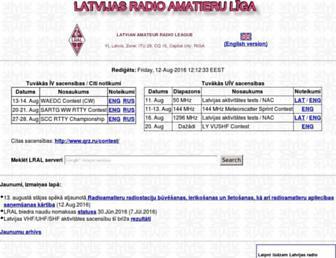 Main page screenshot of lral.lv