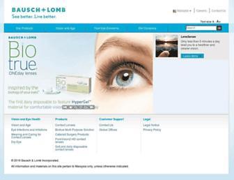 bausch.com.my screenshot