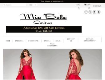 miabellacouture.com screenshot