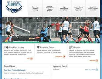 fieldhockey.ab.ca screenshot