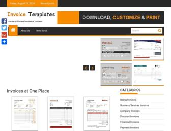 excelinvoicetemplates.com screenshot