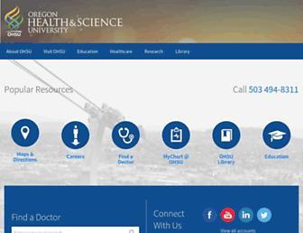 Main page screenshot of ohsu.edu