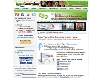 Thumbshot of Rapidlearningcenter.com
